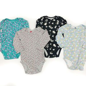 Carters Girls Long Sleeve Floral Body Suit 24 Mo